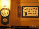 Guinness sign in pub  Dublin  Ireland