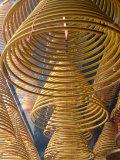 Hanging coils of burning incense  Man Mo Temple  Tai Po  New Territories  Hong Kong  China