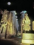 Full Moon Over The Temple at Karnak  Luxor  Egypt