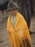 Girl in Traditional Hat  Saquisili  Ecuador