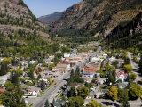 Historic Mining Town  Ouray  San Juan Skyway  US Highway 550  Colorado  USA
