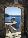 Adriatic Sea Framed By Gate  Dubrovnik  Croatia
