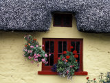 Thatched Cottage with Red Window  Adare  Limerick  Ireland