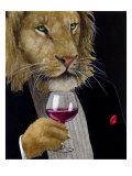 The Wine King Giclée premium par Will Bullas