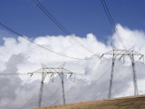 Electric Transmission Lines Carry Power Throughout the American West