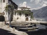 Italian Boys Fish in Lago Di Garda  Italy's Largest Lake