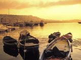 Fishing Boats in Marina at Sunrise