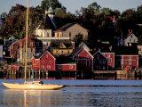 Lunenburg Harbor  an Old German Fishing Village in Nova Scotia