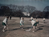 George Washington University Women Play Field Hockey on the Ellipse