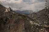 The Castle Karneid Sits Alone Atop The Cliffs Outside Bolzano  Italy
