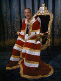 Lord Mayor of London Sits for a Portrait in His Coronation Robes