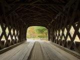 Interior of Bartonsville Covered Bridge  Fall Foliage Tour  Vermont