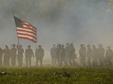 Reenactment of the Civil War Battle of Franklin