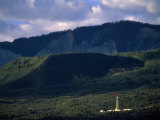 Gas Drilling Rig at the Foot of the Roan Plateau