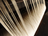 Close Up of Thread on a Loom