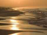 Sunrise over a Gulf of Mexico Beach  in Destin  Florida