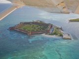 Aerial of Fort Jeffereson  at Dry Tortugas Off the Coast of Key West