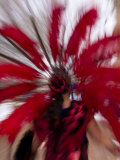 Aztec Dancer with Feather Headdress  in Motion