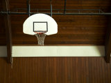 Basketball Hoop in an Old Gym in Botson