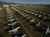 Rows of Fighter Jets in Storage at Davis Monthan Air Force Base