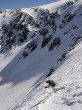 Man Skis Down Tuckerman's Ravine on Mt Washington  NH