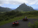 Tourists Riding All Terrain Vehicles on Moorea Island