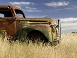 Abandoned Pickup Truck Near Divide
