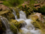 Havasu Creek Waters Spilling over Rocks at Travertine Cascades