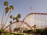 Roller Coaster at Santa Cruz Beach Boardwalk  California