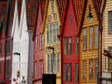 Colorful Row Houses in Bergen