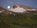 Moonrise over the Continental Divide in the Rocky Mountains
