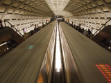 Two Trains Passing in the Dupont Circle Metro Station