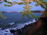 Golden Gate Bridge Seen from Legion of Honor  Mile Rock Beach Area