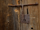 Rusty Barn Door Lock on an Old Hacienda