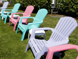 Plastic Lawn Chairs at a Motel