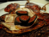 Close Up of Blood Pudding Tapas at a Restaurant