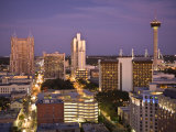 San Antonio  Texas  Skyline of the City at Twilight