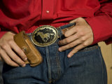Lajitas Texas  Detail of Cowboy Belt Buckle  Brewster County