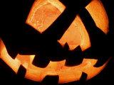 Halloween Jack-O' Lantern at Night