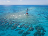 Coral Reefs Seen During Spring Low Tides at Sombrero Key Lighthouse
