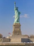 Tourists at the Statue of Liberty National Monument