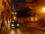 Street Scene with a Car at Night