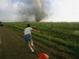Storm Chaser Plants a Weather Probe in the Path of a Tornado