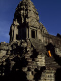 Angkor Wat Temple Complex with Ornate Relief Work on Buildings