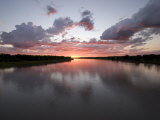 Missouri River at Sunset Reflects the Sky in North Dakota