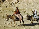 Kashgai Family on Baggage-Laden Burros Migrates to Mountain Pastures