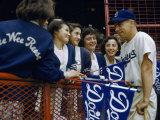 Baseball Fans Talk to Brooklyn Dodgers' Shortstop Pee Wee Reese
