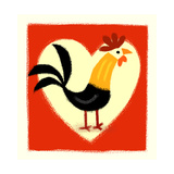 Rooster in Front of Heart