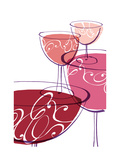 Wine Glasses with Swirls