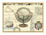 Carte nautique II Reproduction d'art